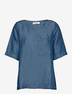 BLOUSE SHORT-SLEEVE - blouses med korte mouwen - bleach