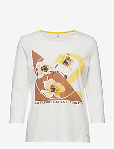 T-SHIRT 3/4-SLEEVE R - printed t-shirts - off-white