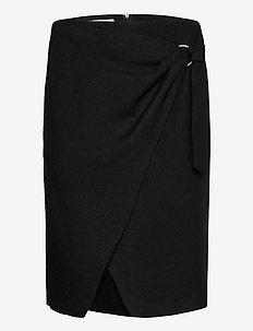 SKIRT SHORT WOVEN FA - omlottkjolar - black