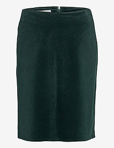 SKIRT SHORT WOVEN FA - spódnice mini - emerald green