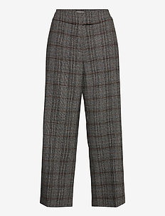 CROP LEISURE TROUSER - casual bukser - anthra/grey/hazelnut