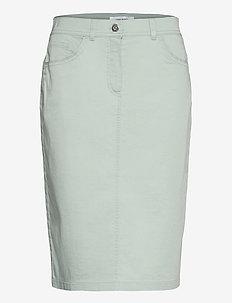 SKIRT SHORT WOVEN FA - denimnederdele - aqua grey
