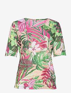 T-SHIRT SHORT-SLEEVE - t-shirts - lilac/pink/green print
