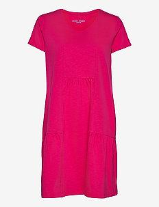DRESS KNITTED FABRIC - summer dresses - rasberry