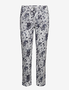CROP TROUSERS JEANS - BLUE/WHITE