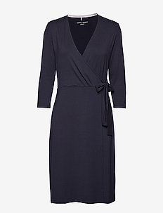 DRESS KNITTED FABRIC - NAVY BLUE