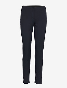 CROP LEISURE TROUSER - stuprörsbyxor - navy