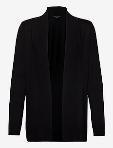 JACKET KNIT FABRICS - koftor - black