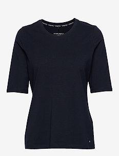 T-SHIRT 3/4-SLEEVE R - t-shirts - dark navy