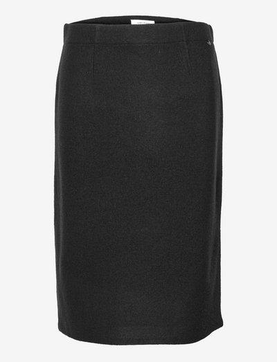 SKIRT KNITWEAR - midi kjolar - black