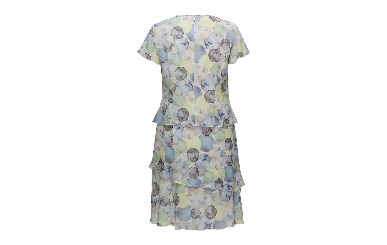 Dress Ecru Print 100 Polyester Weber Lime Woven Bleu Gerry Fabric HIUB50q