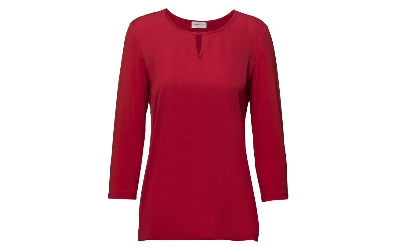 3 Coton T Elastane 47 R Weber Gerry shirt 6 4 sleeve Modale Red UqaTwt4x