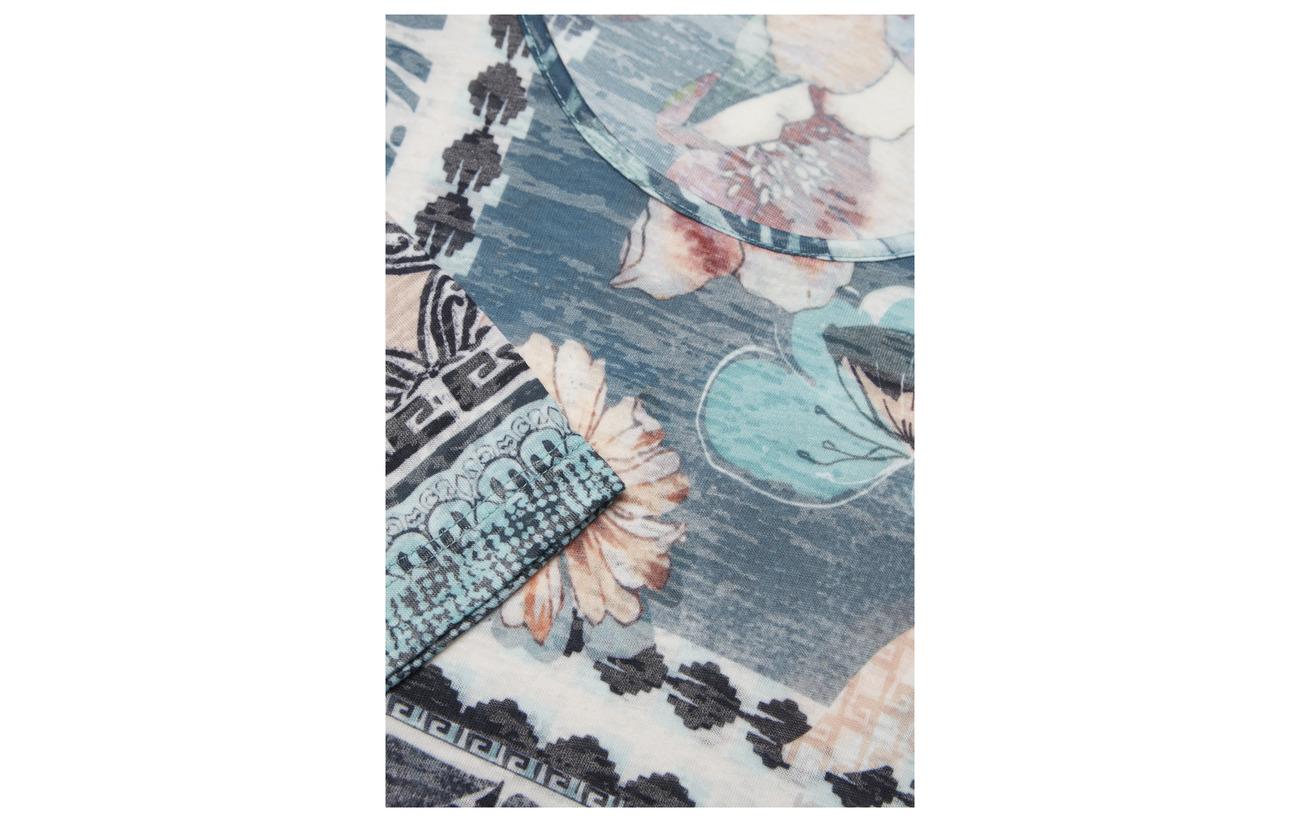 shirt Gerry 35 Jade Print T Long Polyester 65 Grey Weber Viscose Ecru sleeve aawAqrE1n