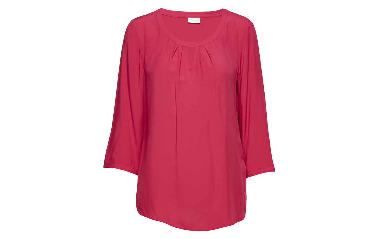 Viscose Blouse 4 sleeve 3 Weber 100 Red Gerry 8nfwq0FH5x