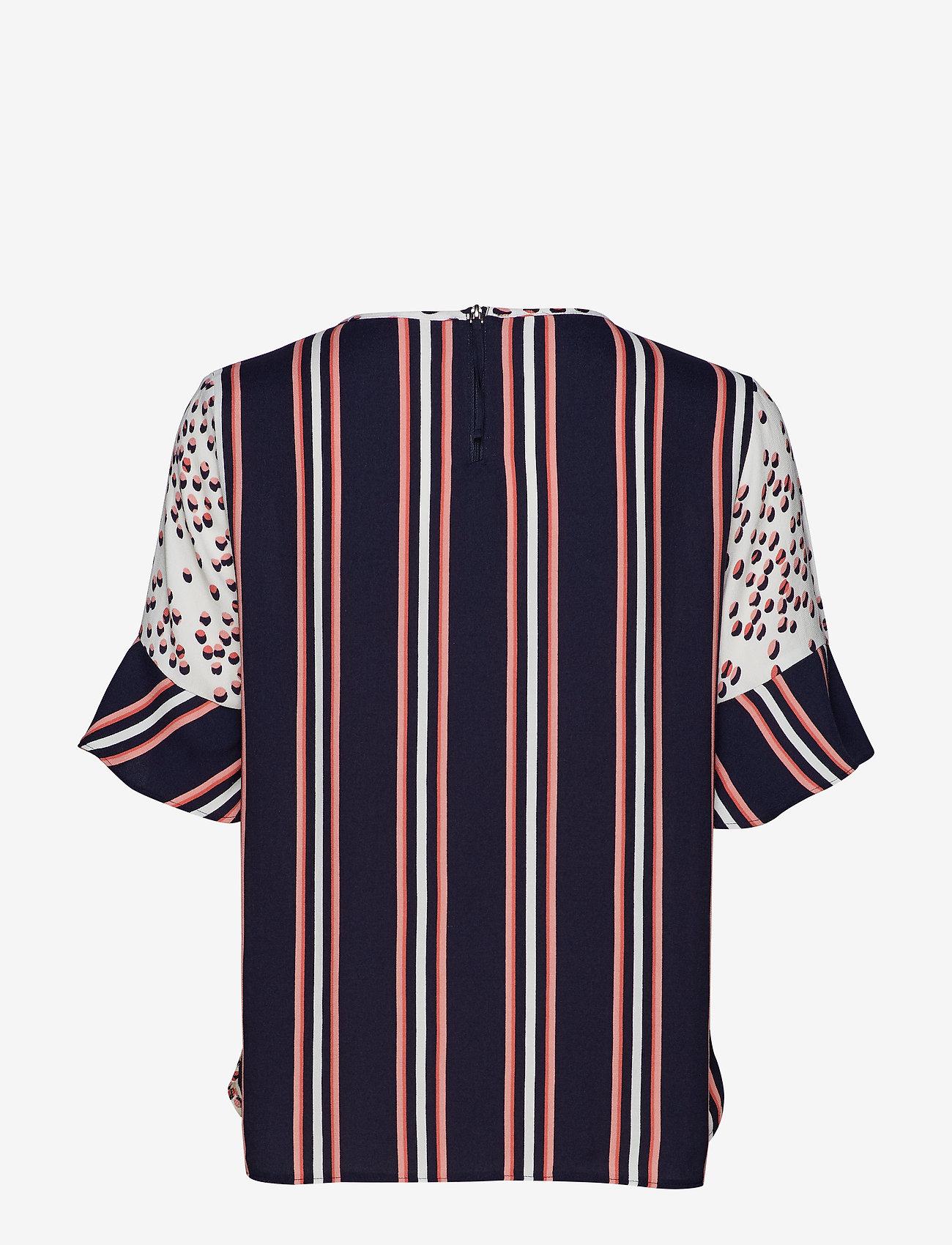 Gerry Weber - BLOUSE SHORT-SLEEVE - t-shirts - ecru/ blush/ blue print