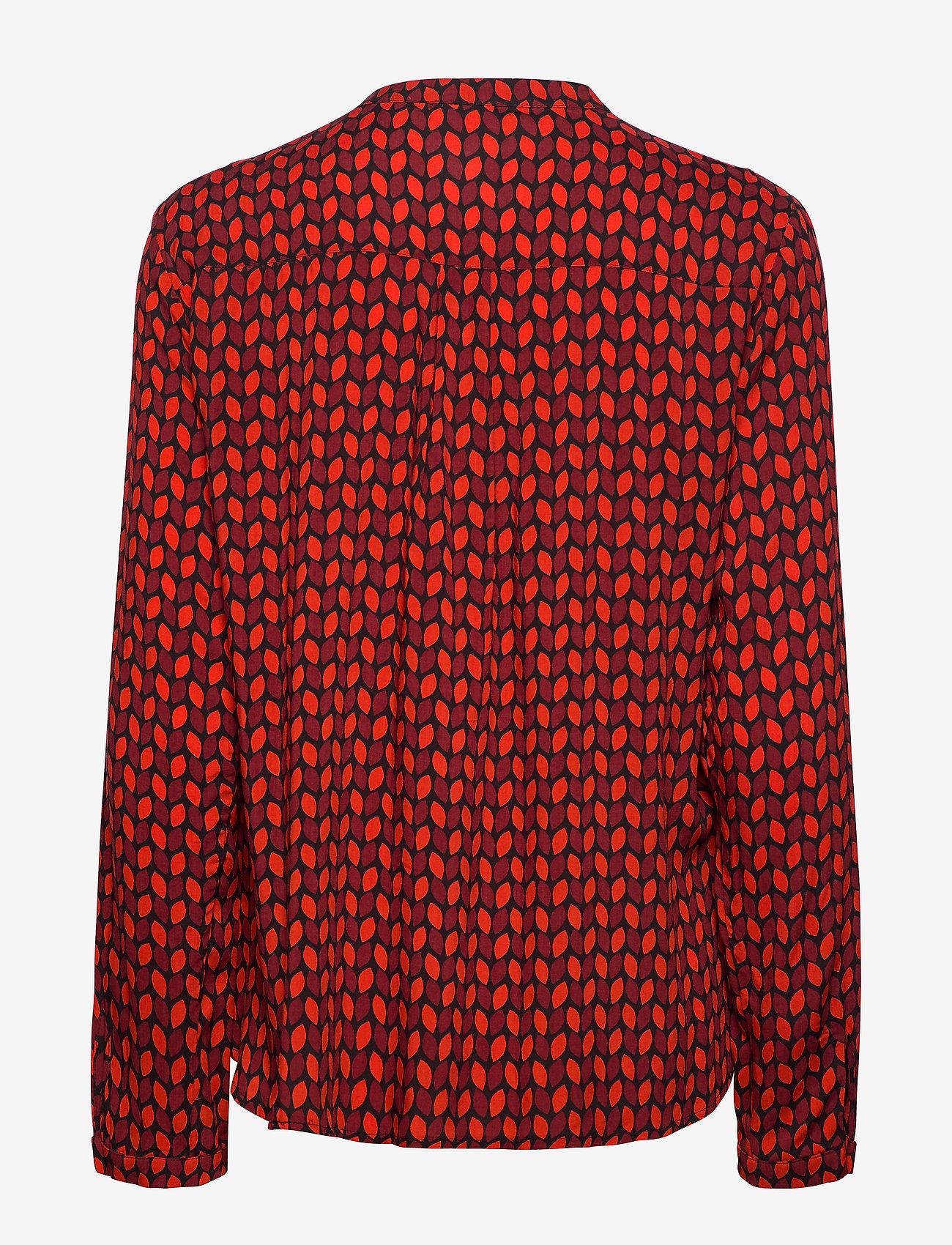 Blouse Long-sleeve (Fiery Red Rubin Print) - Gerry Weber fkaUbd