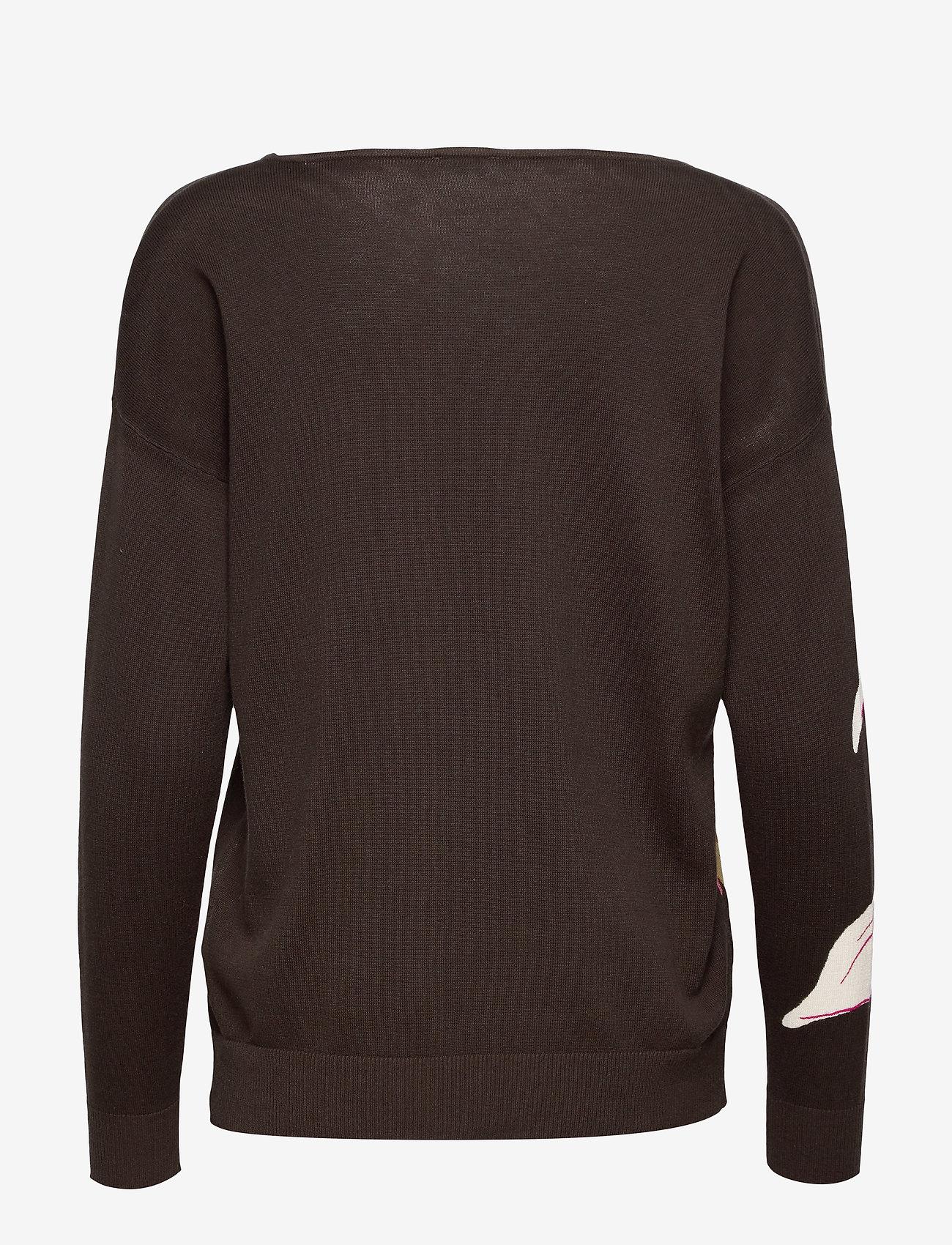 Pullover Long-sleeve (Choclate/ Pink/ Ecru Print) (604.45 kr) - Gerry Weber
