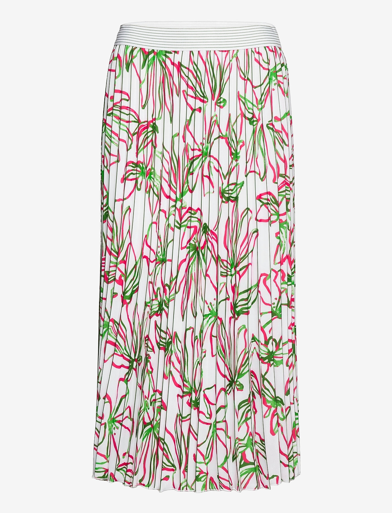 Gerry Weber - SKIRT LONG WOVEN FAB - jupes midi - white azalea palm print - 0