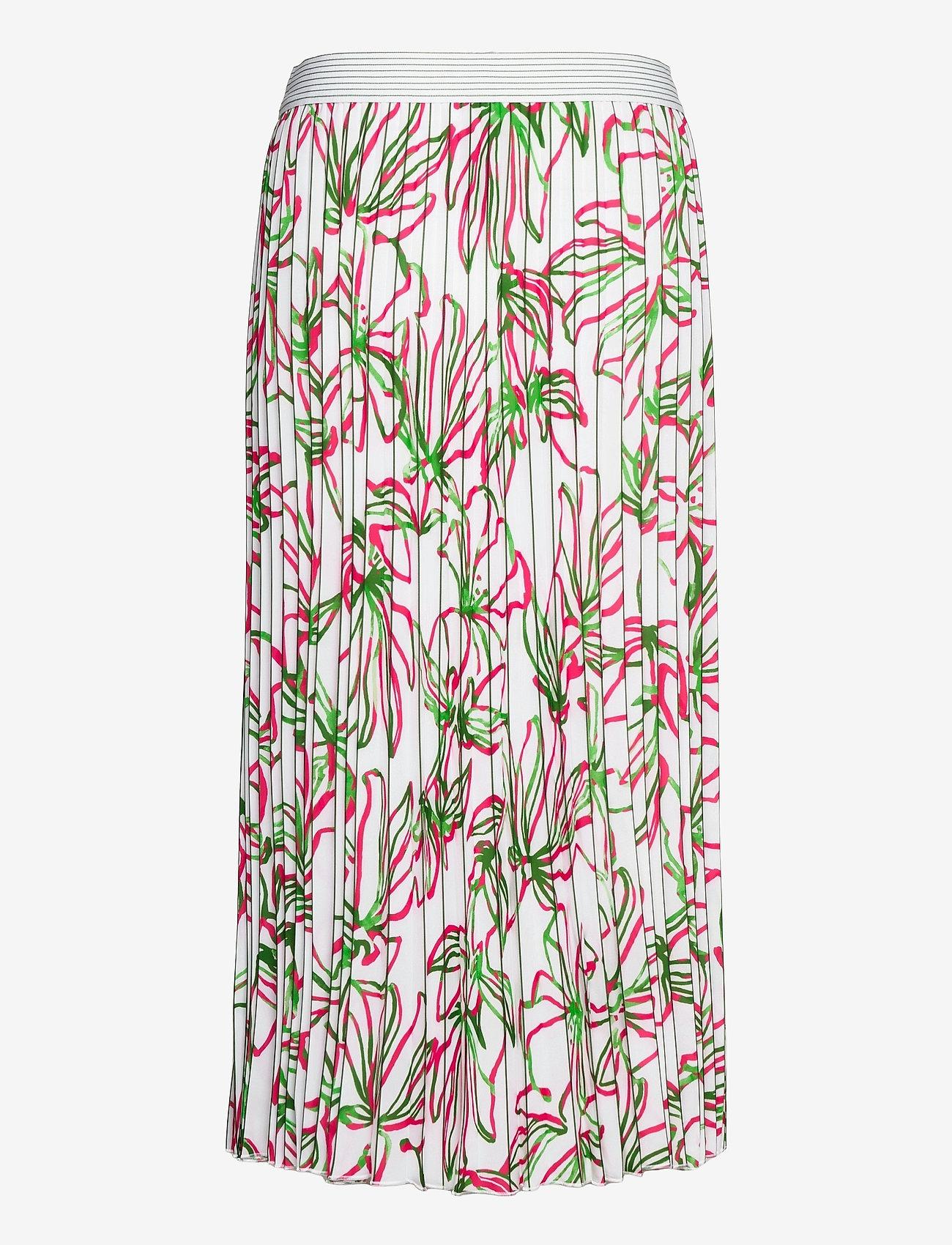 Gerry Weber - SKIRT LONG WOVEN FAB - jupes midi - white azalea palm print - 1