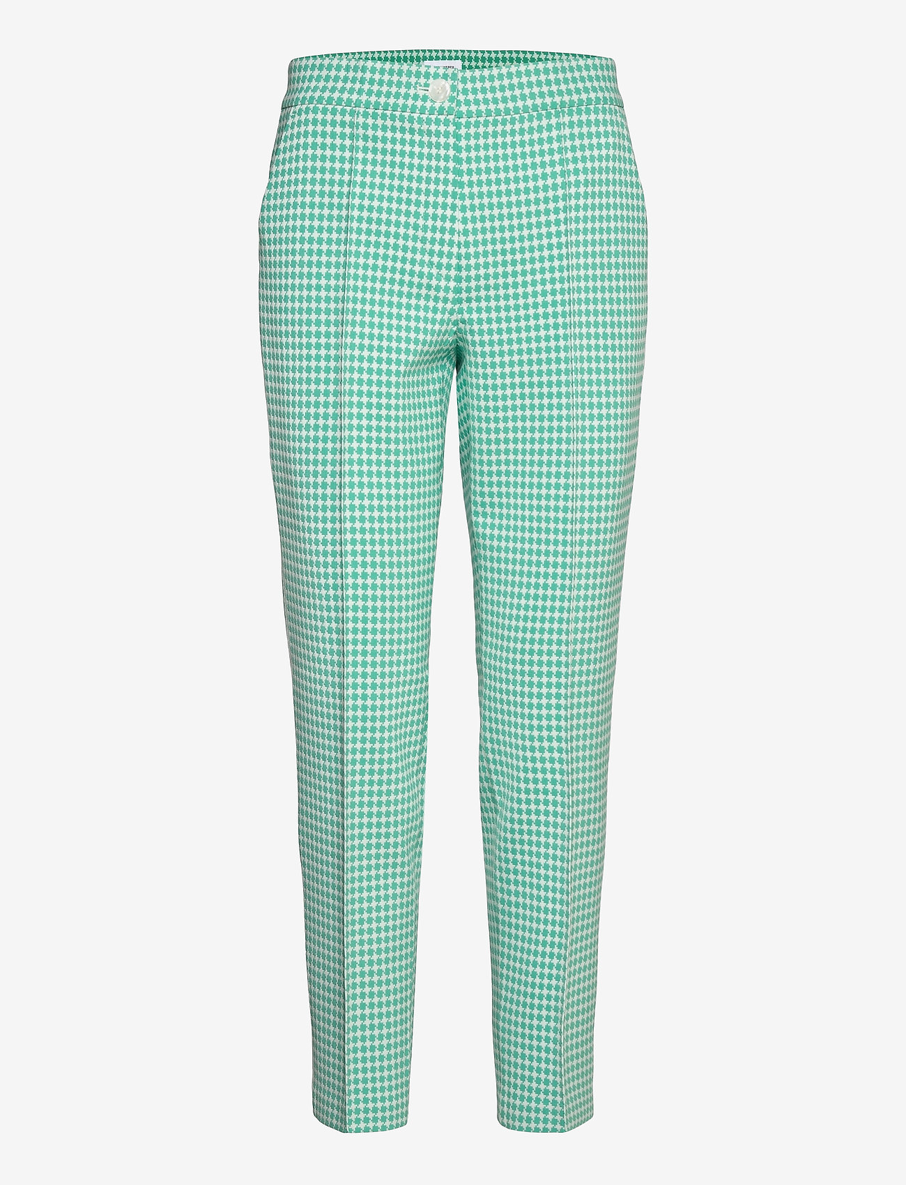 Gerry Weber - CROP LEISURE TROUSER - slim fit bukser - aloe off white patterned - 0