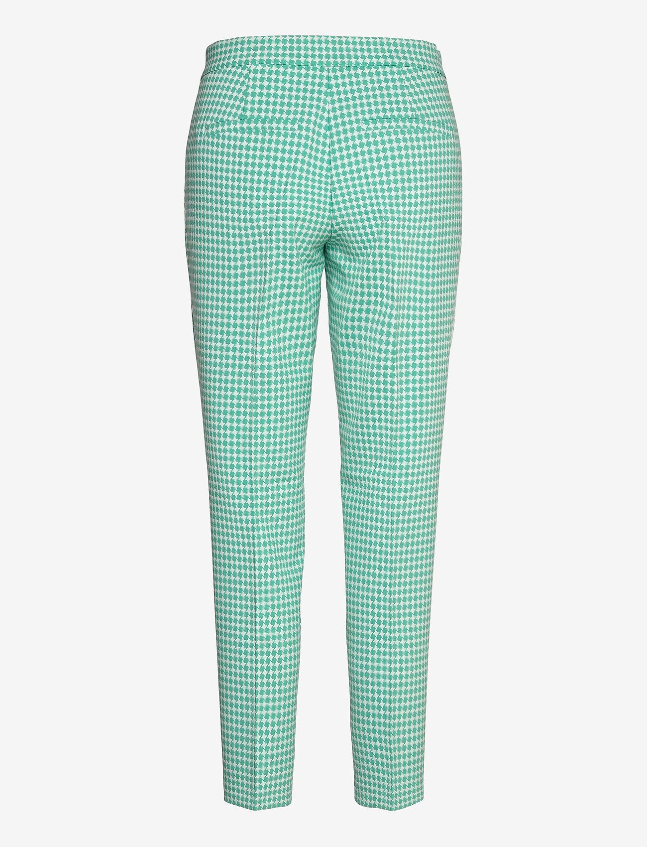 Gerry Weber - CROP LEISURE TROUSER - slim fit bukser - aloe off white patterned - 1