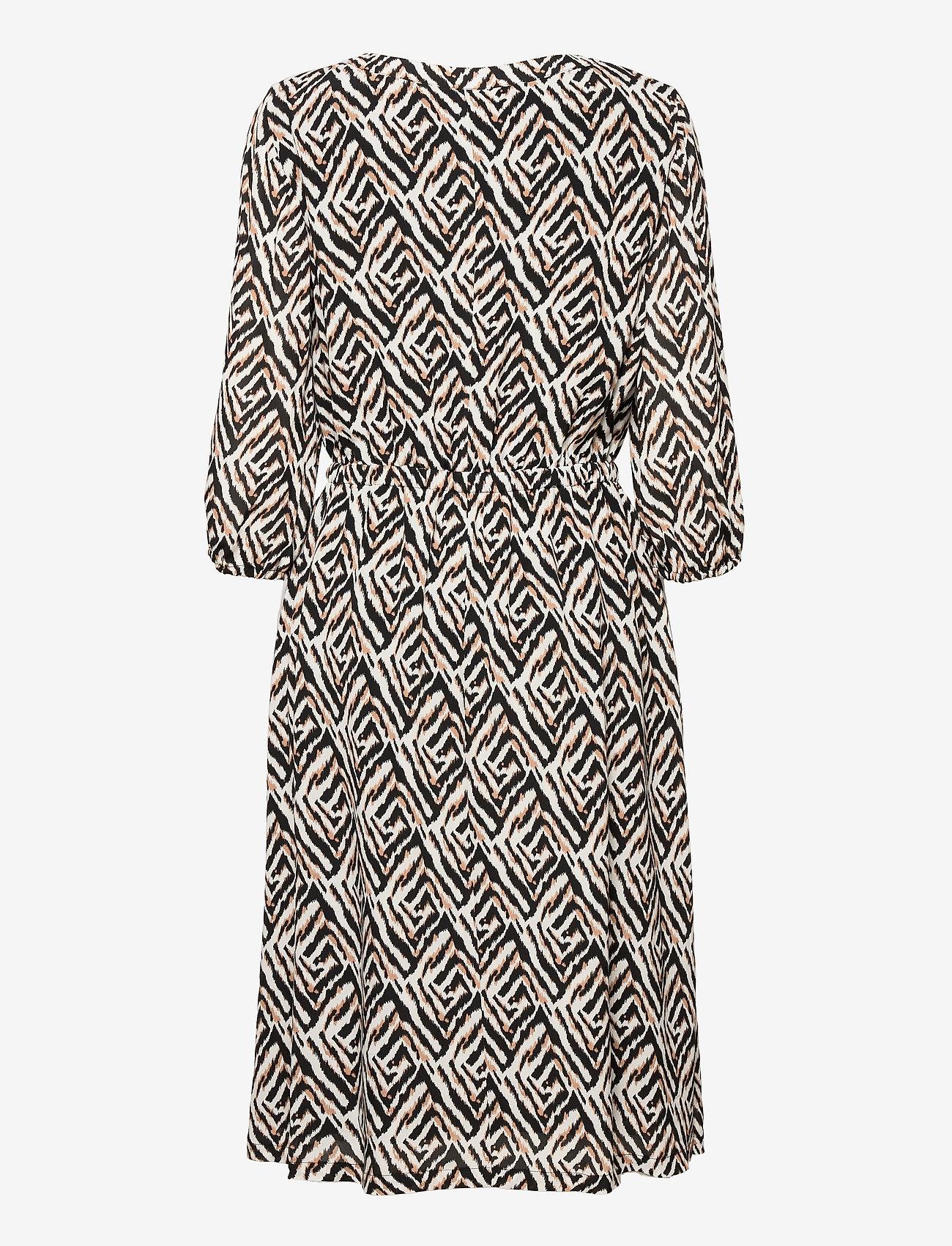 Gerry Weber - DRESS WOVEN FABRIC - robes d'été - ecru black sahara print - 1