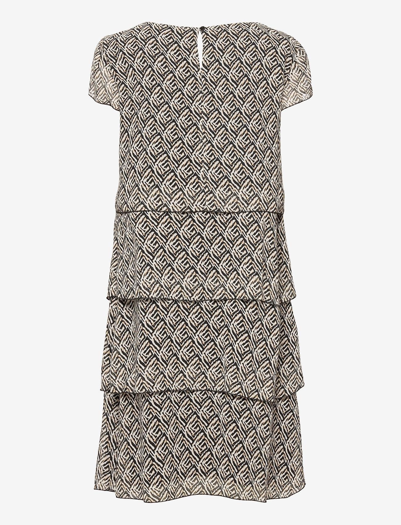 Gerry Weber - DRESS WOVEN FABRIC - robes de jour - ecru black sahara print - 1