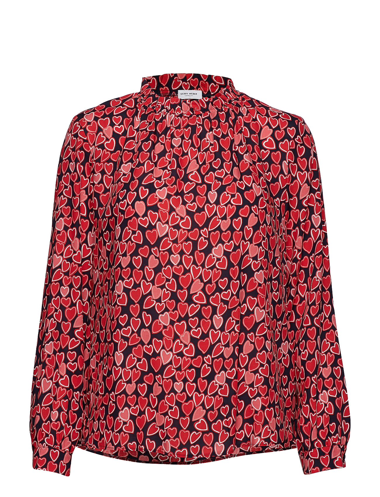 Gerry Weber BLOUSE LONG-SLEEVE - BLUE/RED/ORANGE PRINT