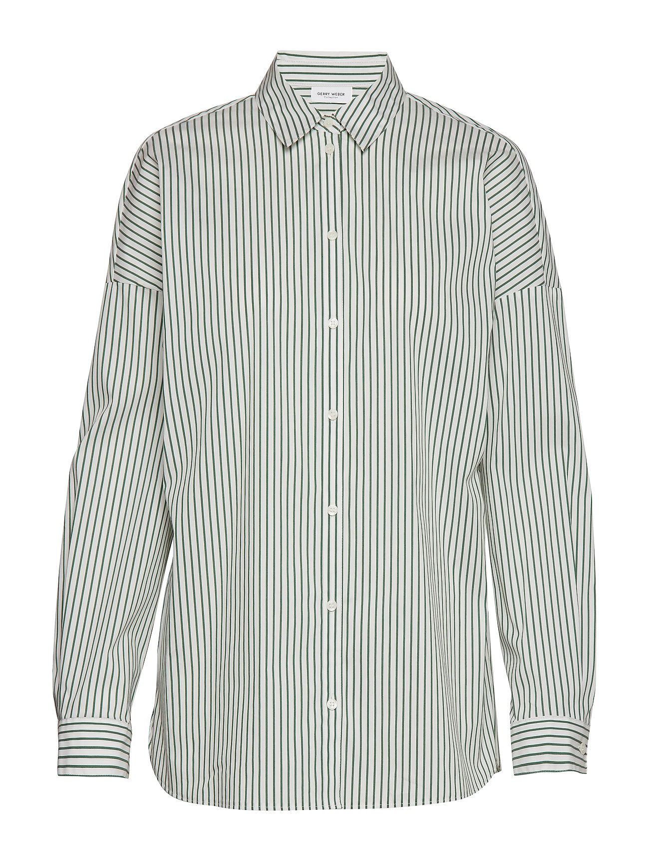 Gerry Weber BLOUSE LONG-SLEEVE - ECRU/WHITE/GREEN STRIPES