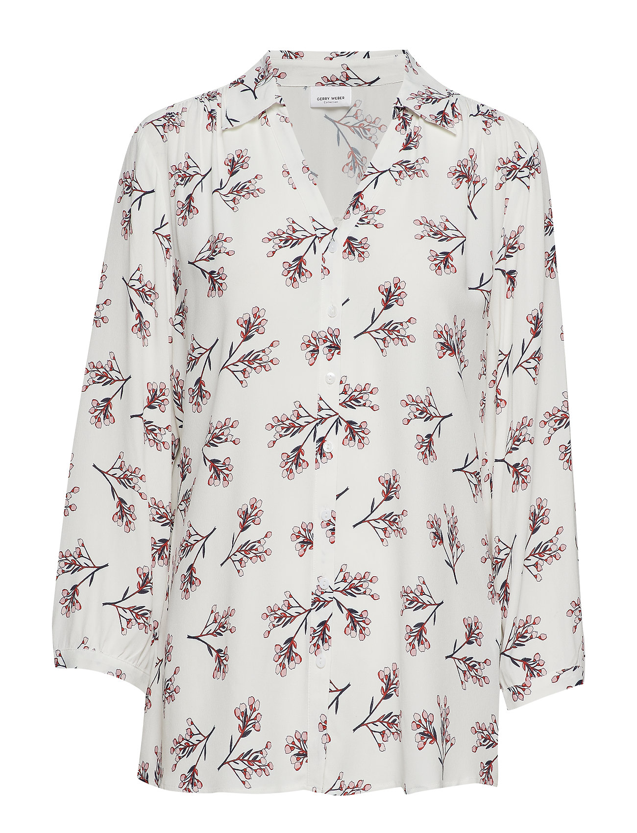 Gerry Weber BLOUSE 3/4-SLEEVE - ECRU/ BLUSH/ BLUE PRINT