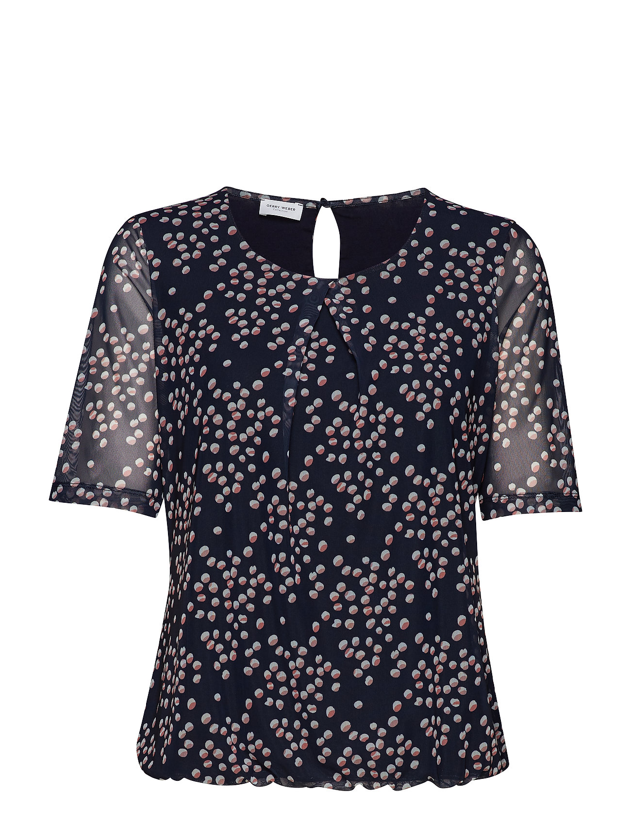Gerry Weber T-SHIRT SHORT-SLEEVE - BLUE/ BLUSH/ BRICK PRINT