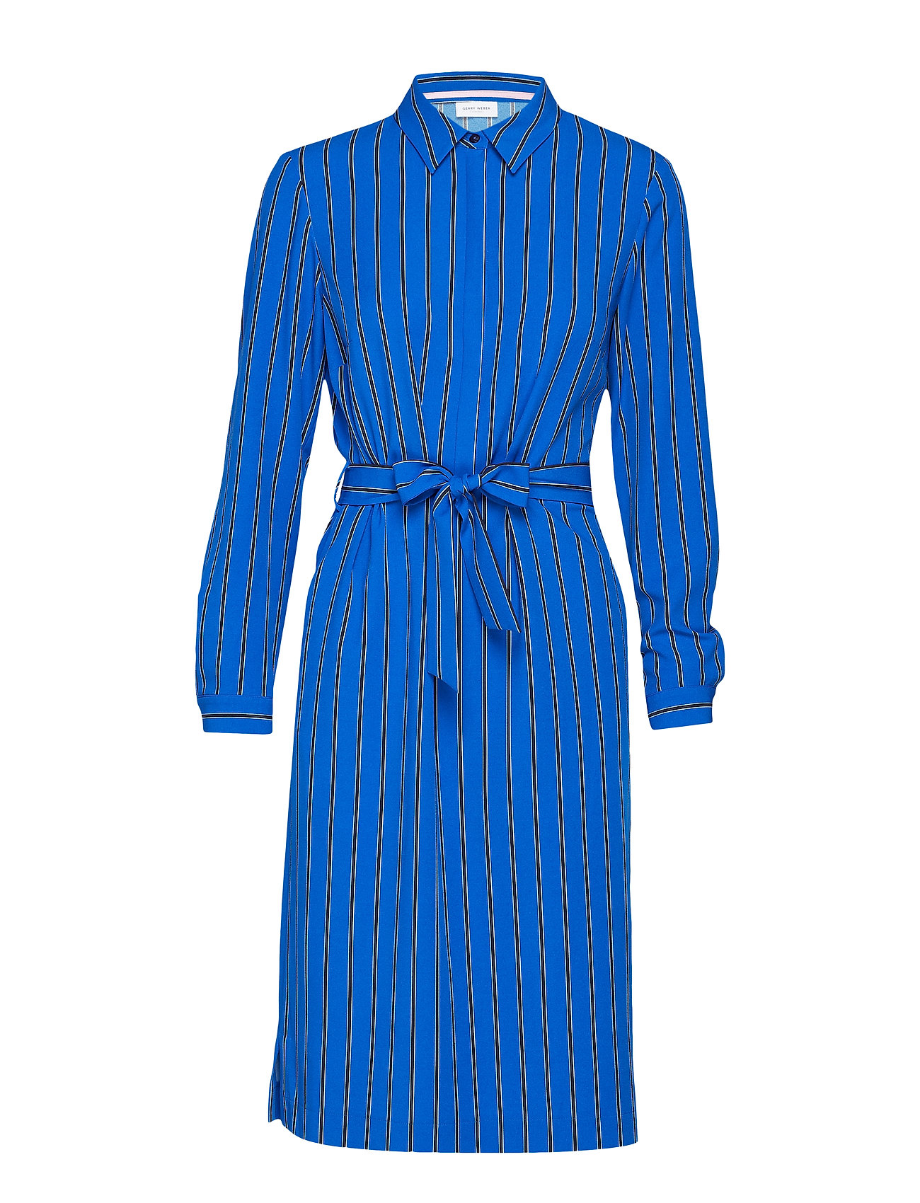 Gerry Weber DRESS WOVEN FABRIC - BLUE/ECRU/WHITE STRIPES