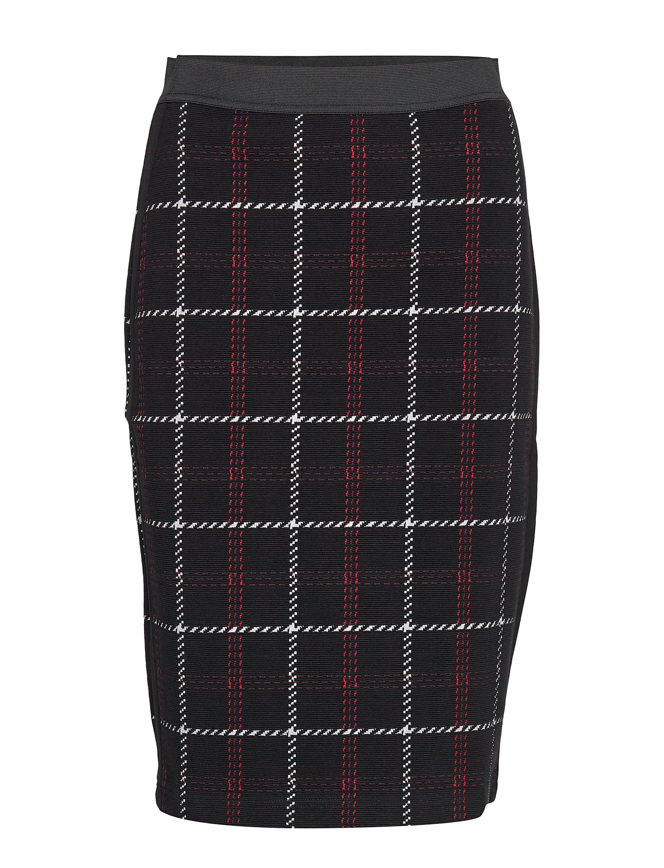 Gerry Weber SKIRT KNITWEAR - BLACK OFFWHITE RED CHECK