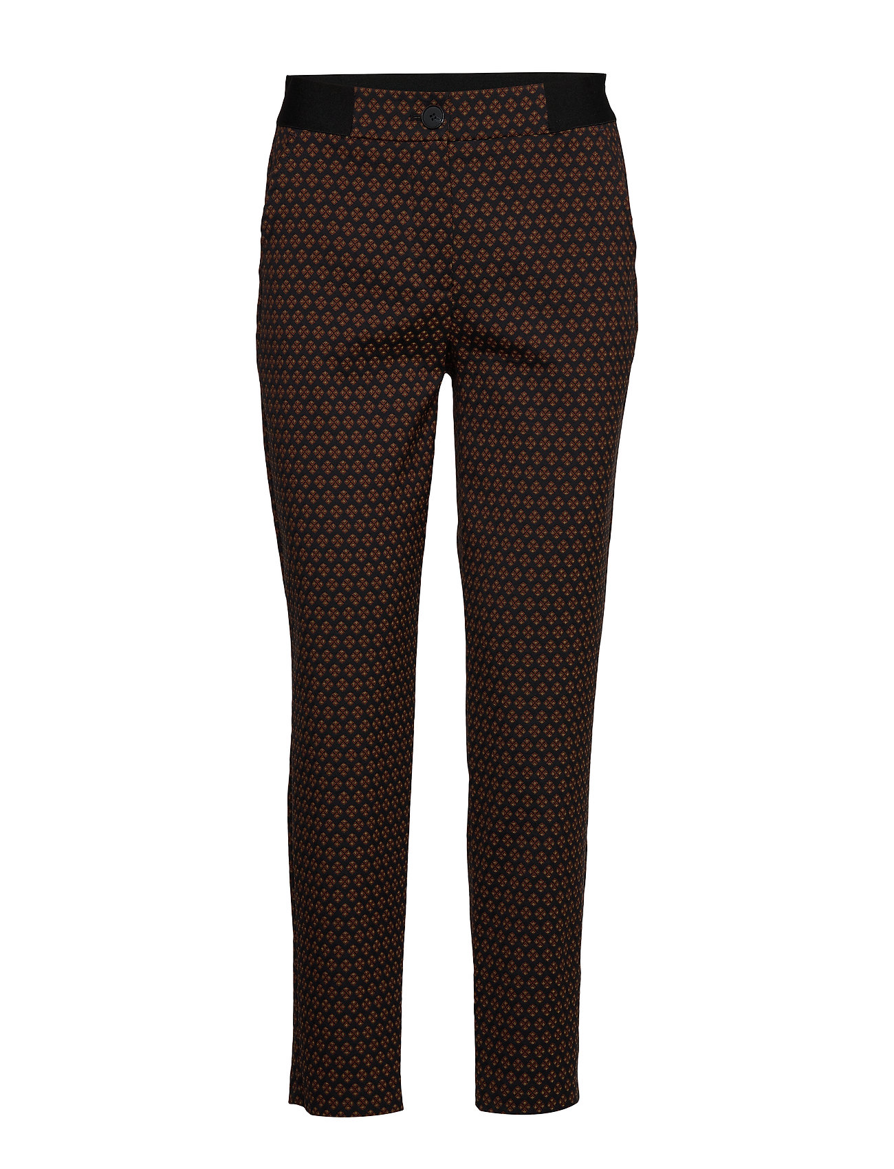 Gerry Weber CROP LEISURE TROUSER - BLACK/BROWN MULTICOLOR