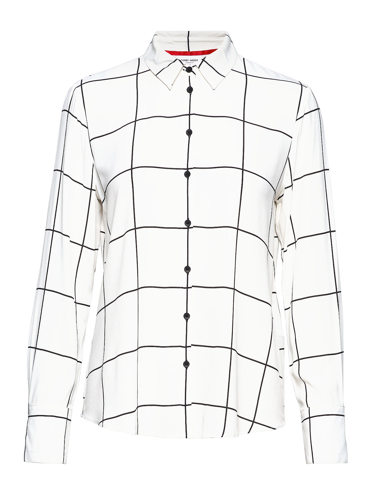 Gerry Weber BLOUSE LONG-SLEEVE - ECRU/WHITE/BLACK CHECK