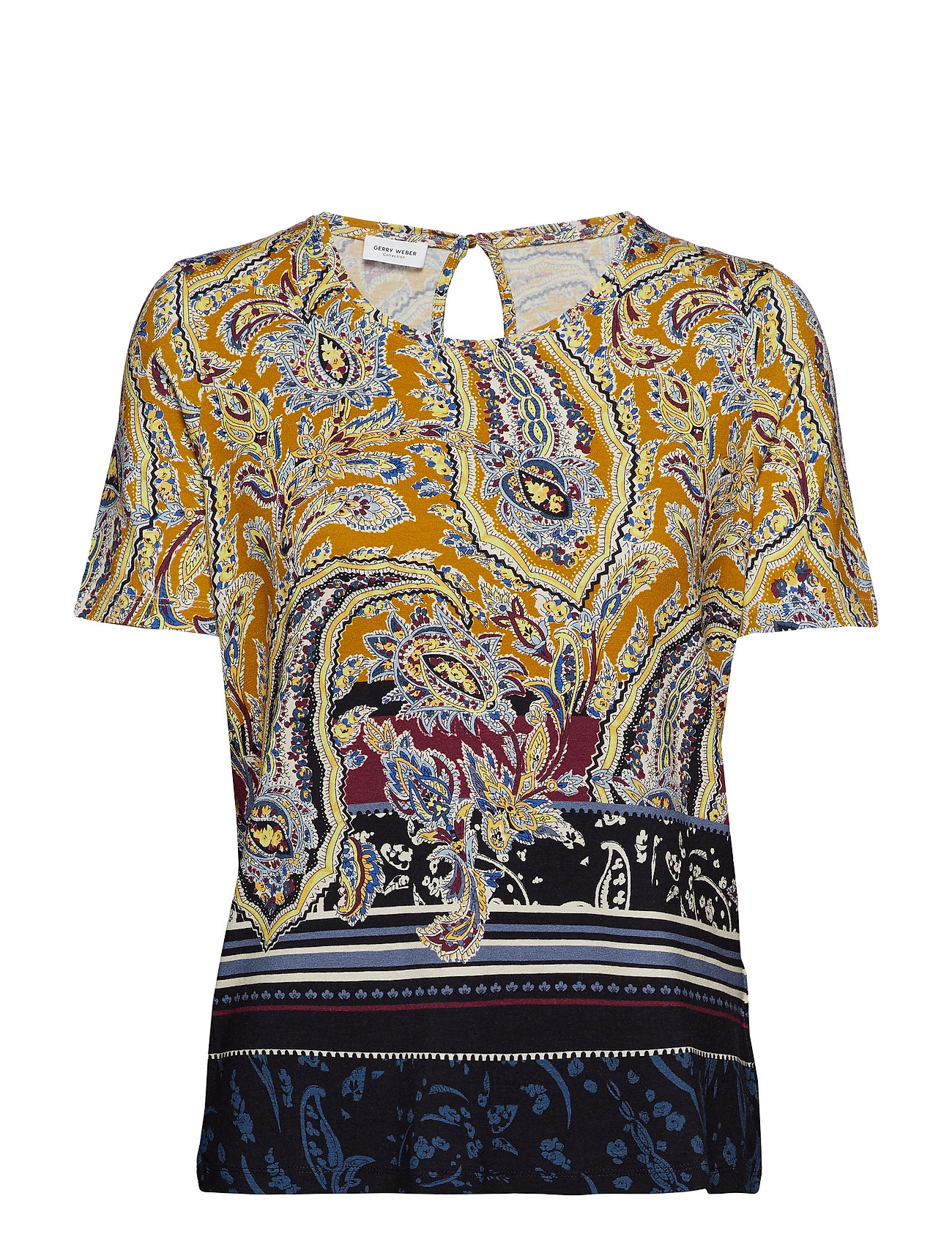 Gerry Weber T-SHIRT SHORT-SLEEVE - YELLOW MULTICOLOR PRINT