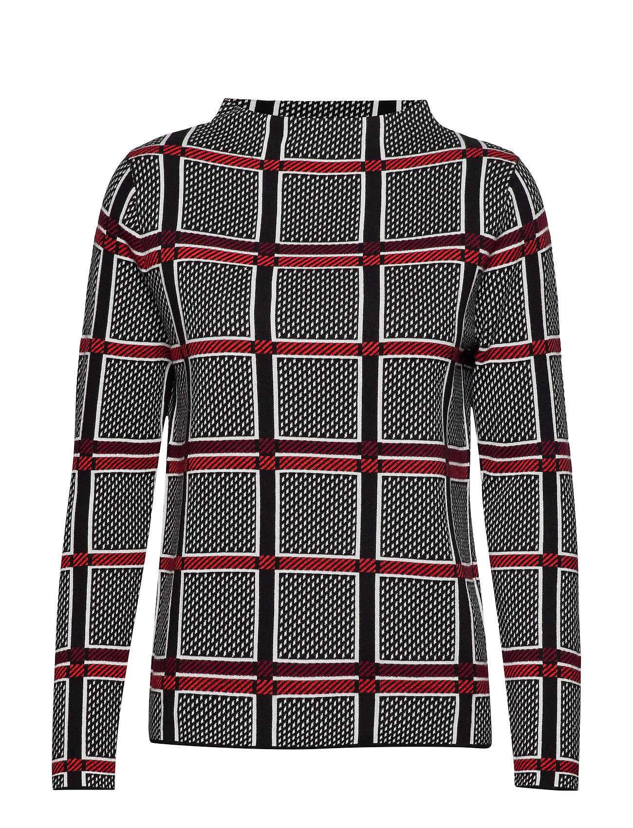 Gerry Weber PULLOVER LONG-SLEEVE - BLACK OFFWHITE RED CHECK