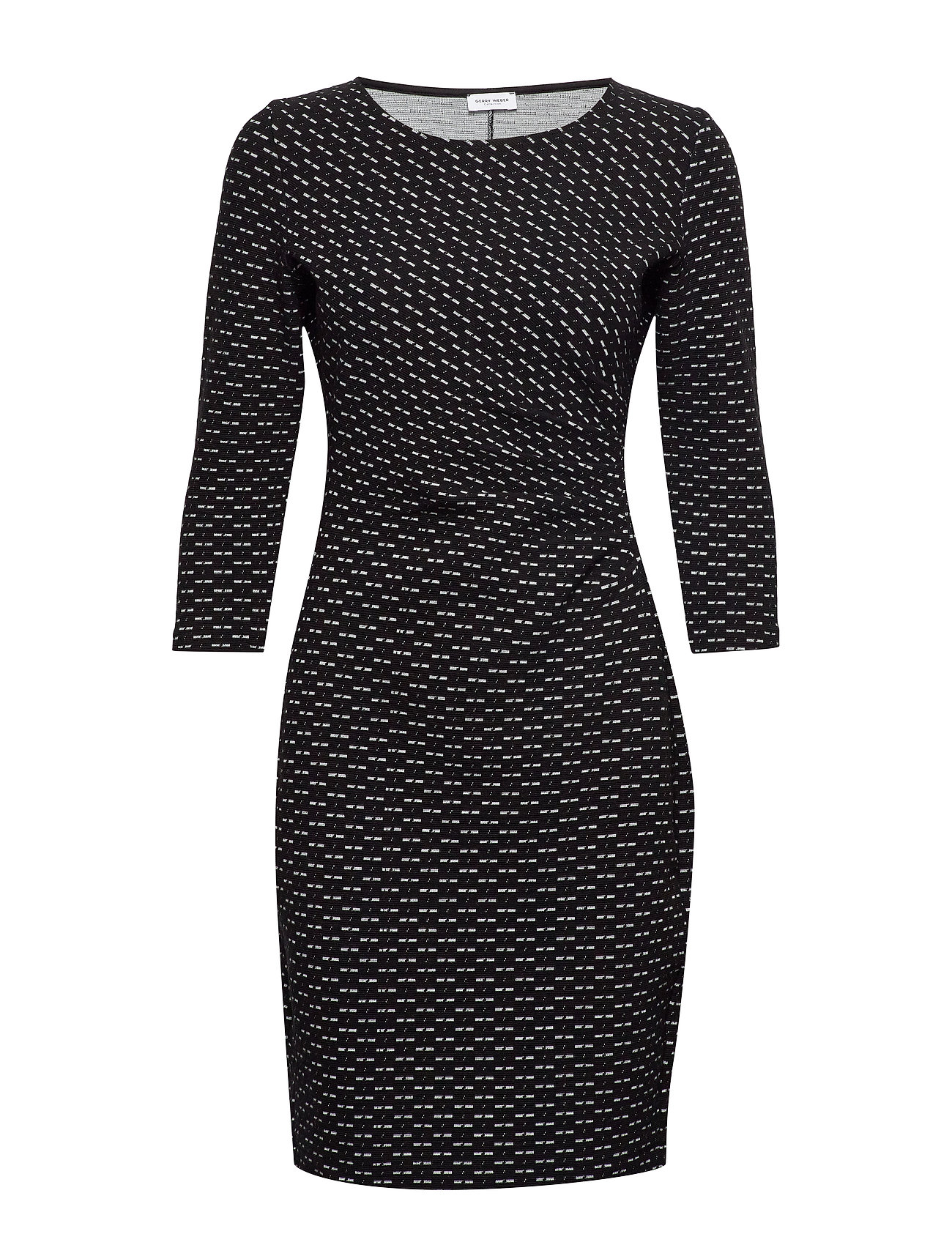 Gerry Weber DRESS KNITTED FABRIC - BLACK/ECRU/WHITE FIGURED