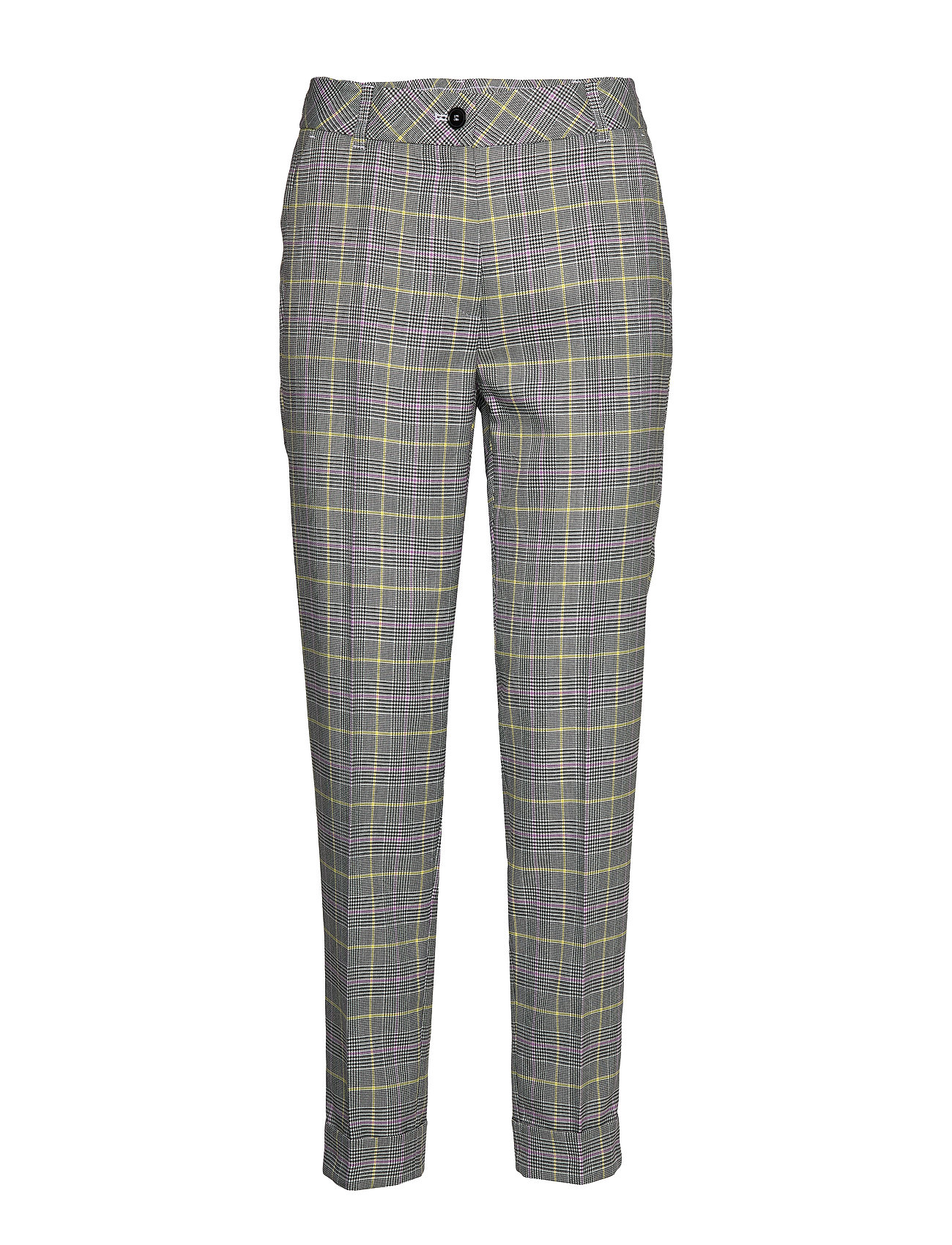 Gerry Weber CROP LEISURE TROUSER - ECRU/WHITE/BLACK CHECK