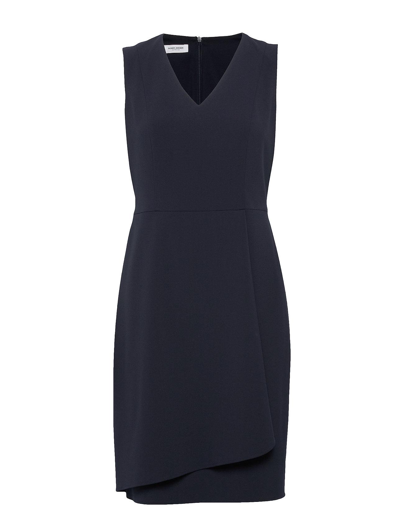 dress woven fabric kleid knielang blau gerry weber | foccz