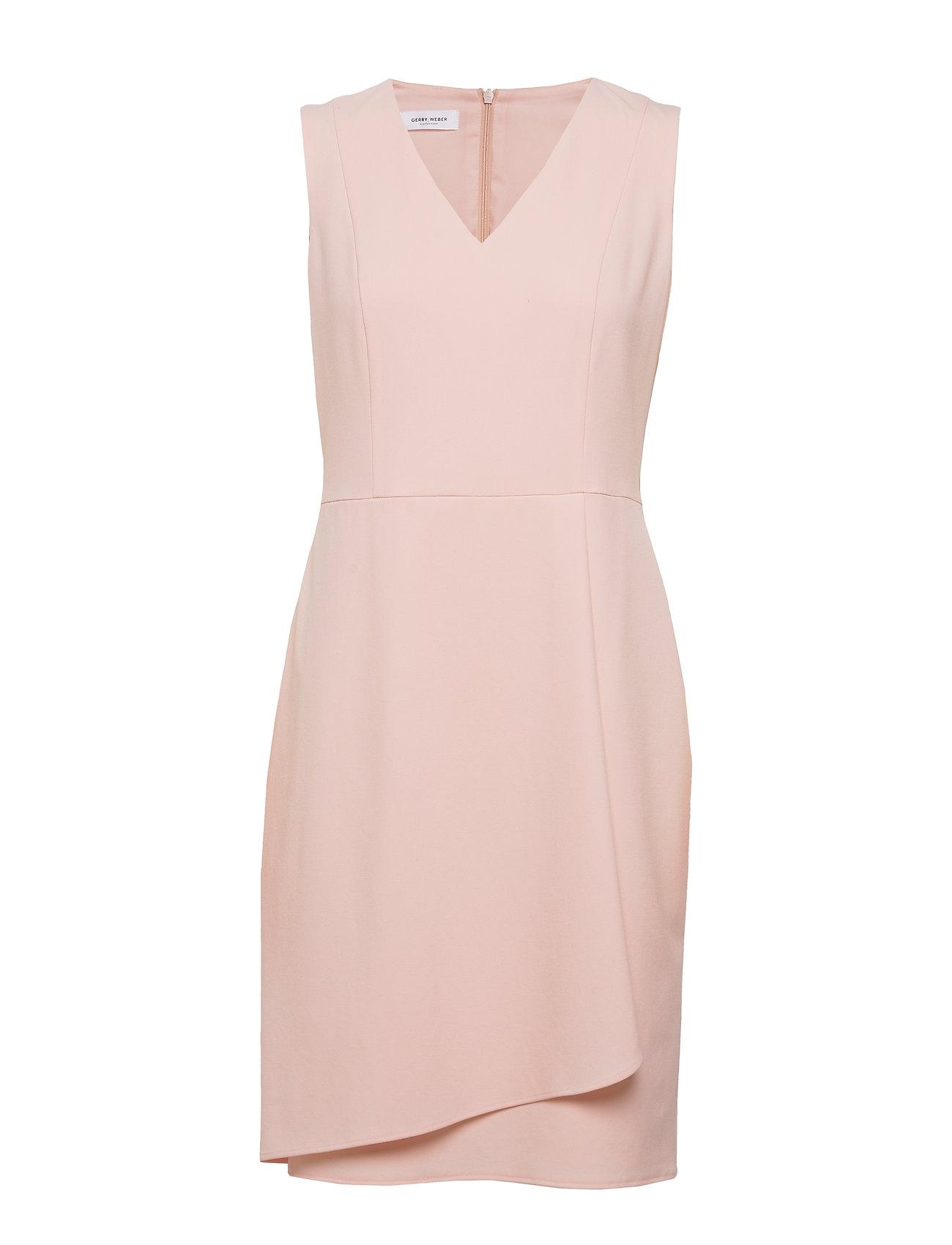 dress woven fabric kleid knielang pink gerry weber | foccz