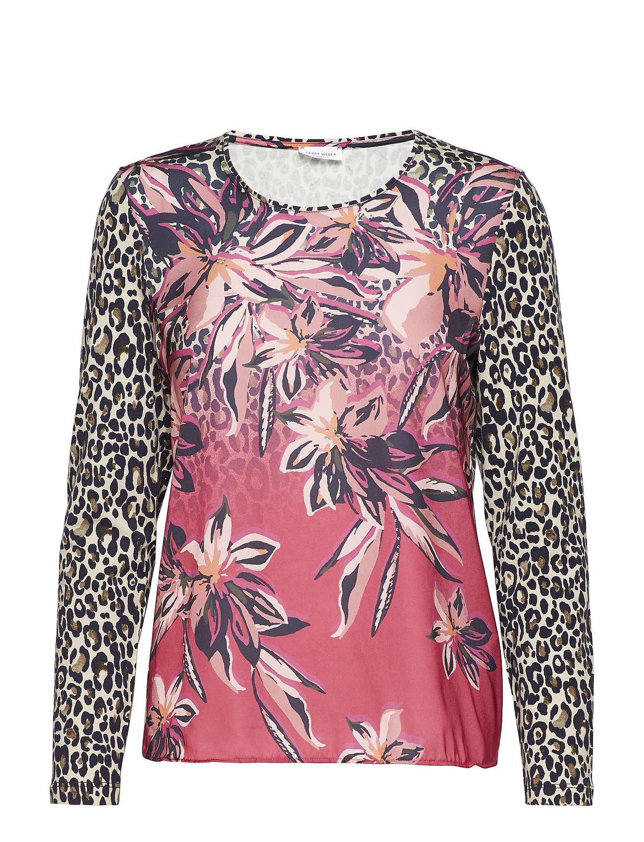 Gerry Weber T-SHIRT LONG-SLEEVE - ASALEA/ WILD ROSE/ INK