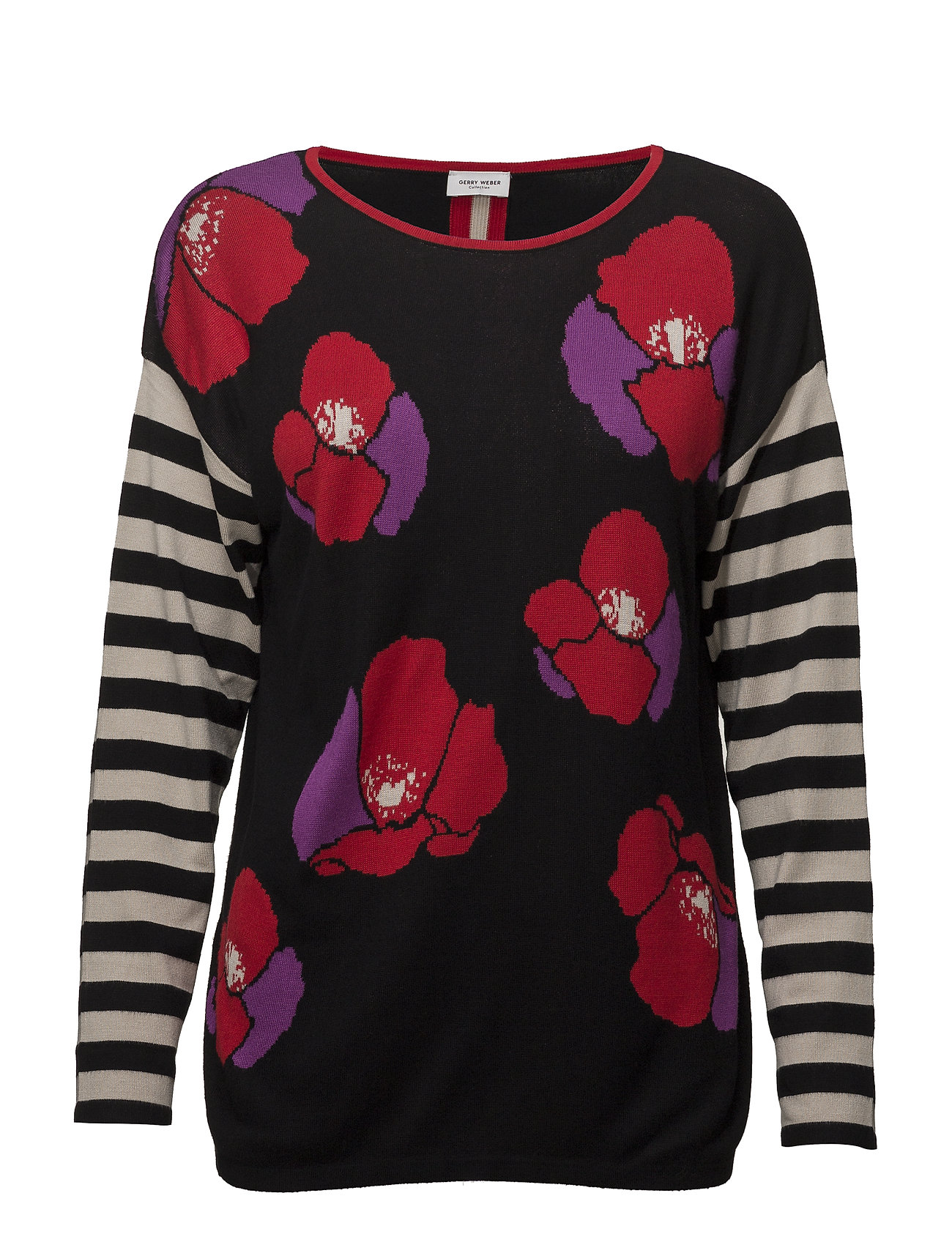 Gerry Weber PULLOVER LONG-SLEEVE - BLACK/ LILAC/ RED