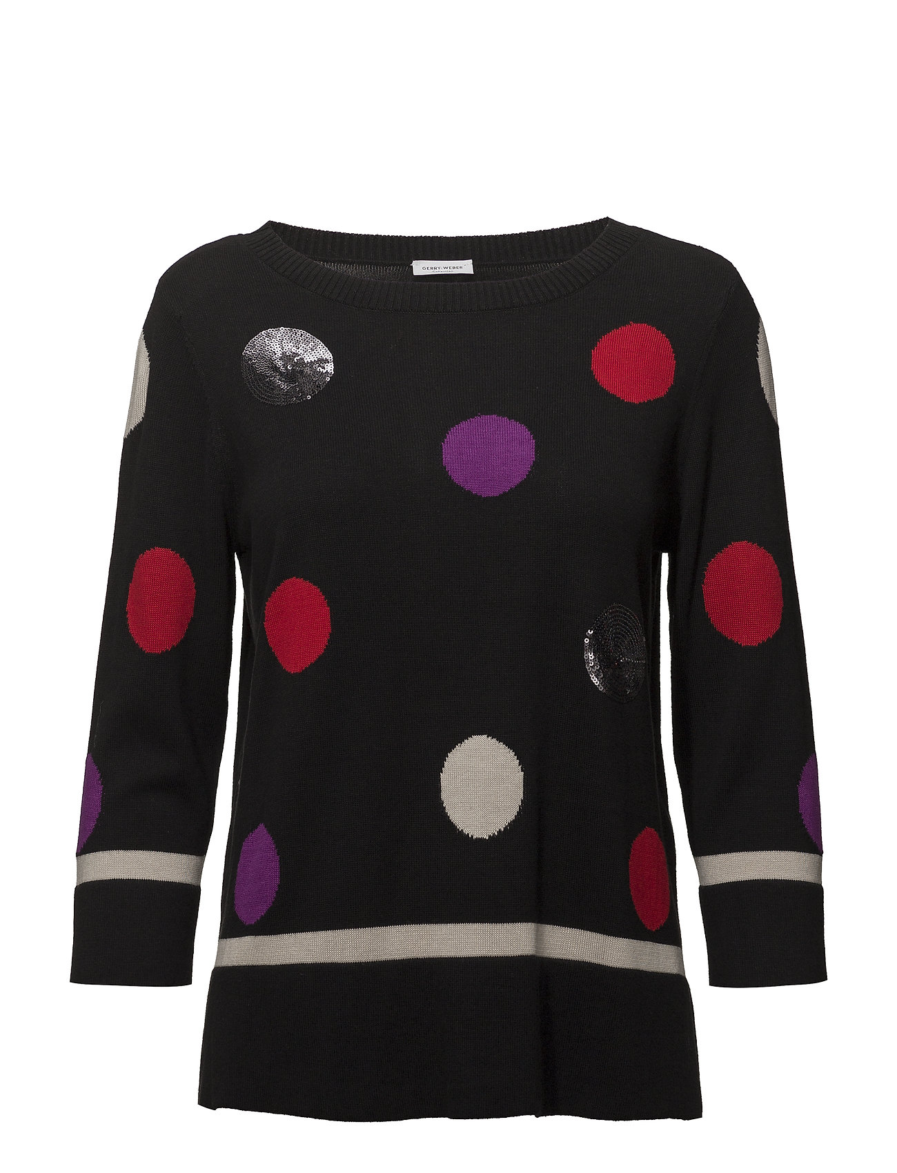 Gerry Weber PULLOVER 3/4-SLEEVE - BLACK/ SAND/ RED