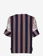 Gerry Weber - BLOUSE SHORT-SLEEVE - t-shirts - ecru/ blush/ blue print - 1