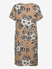 Gerry Weber - DRESS WOVEN FABRIC - robes d'été - sahara ecru black print - 1