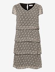 Gerry Weber - DRESS WOVEN FABRIC - robes de jour - ecru black sahara print - 0
