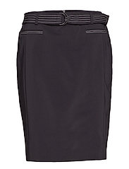 SKIRT SHORT WOVEN FA - BLACK