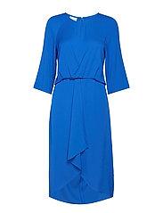 DRESS WOVEN FABRIC - BLUE