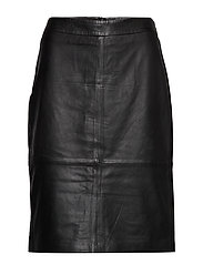 SKIRT LEATHER - BLACK